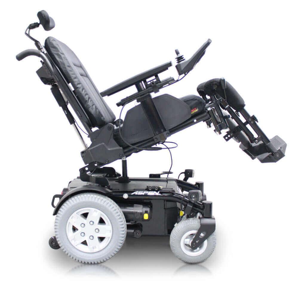 Aspen Power Tilt - Elderly with mobility scooterElderly with mobility scooter - PowerChairs
